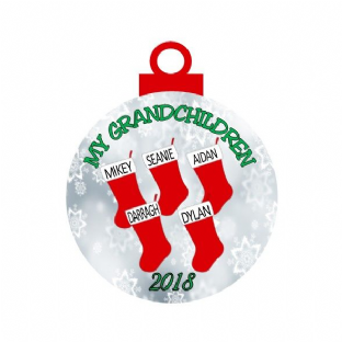 Our/My Grandchildren Stocking Christmas Ornament Decoration